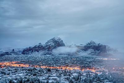 Snowy Morning in Sedona