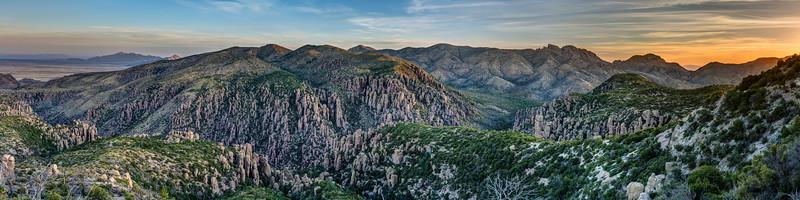 Chiricahua Sunrise Panorama