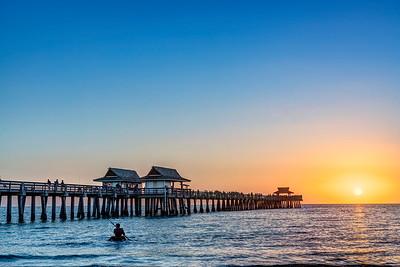 Sunset at Naples Pier
