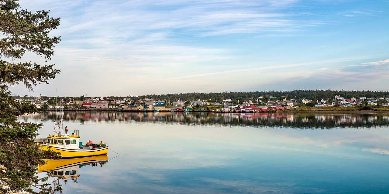 Louisbourg Harbor Reflection
