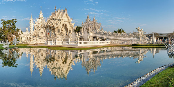 White Temple Reflection