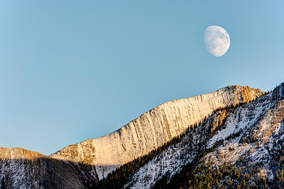 Moonrise in the Canadian Rockies
