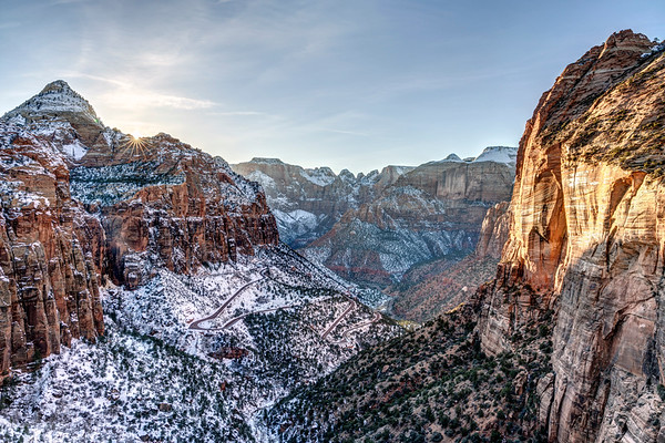 Sunstar at Zion Canyon Overlook