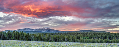 Sunset Panorama in the Bighorn