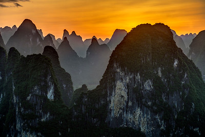 Laozhai Hill Sunset
