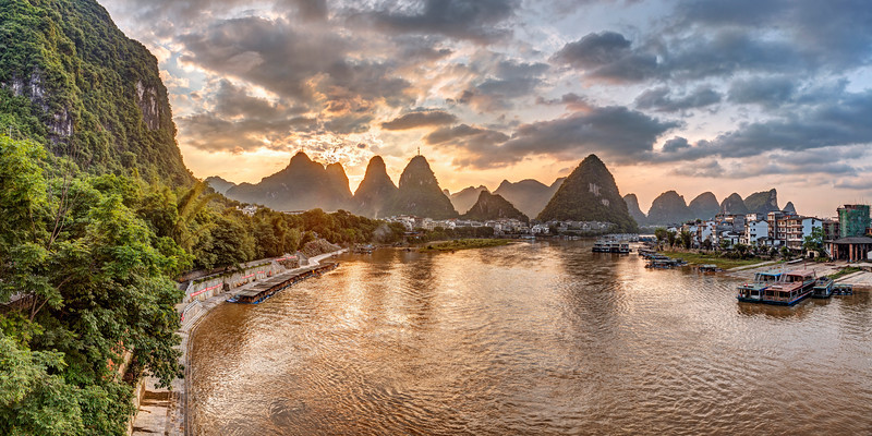 Sunrise over XingPing