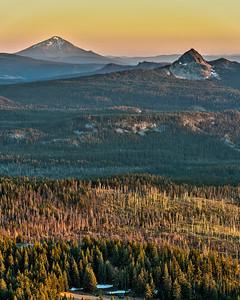 Mountains surrounding Crater Lake