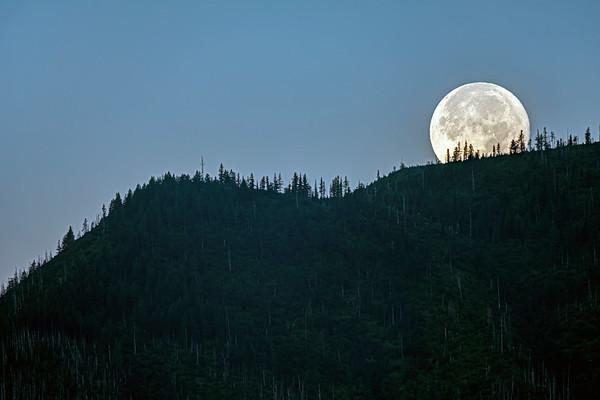 Moonrise in Glacier