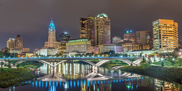 Columbus and the Rich Street Bridge