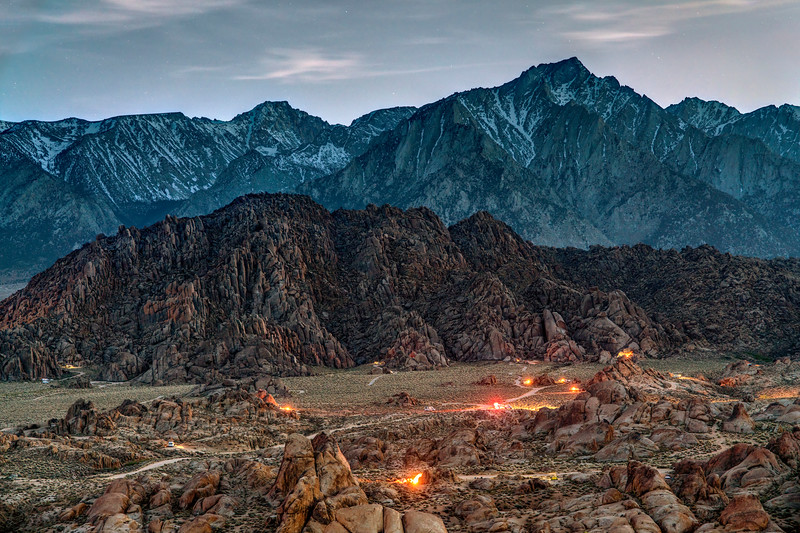 Camping in the Alabama Hills
