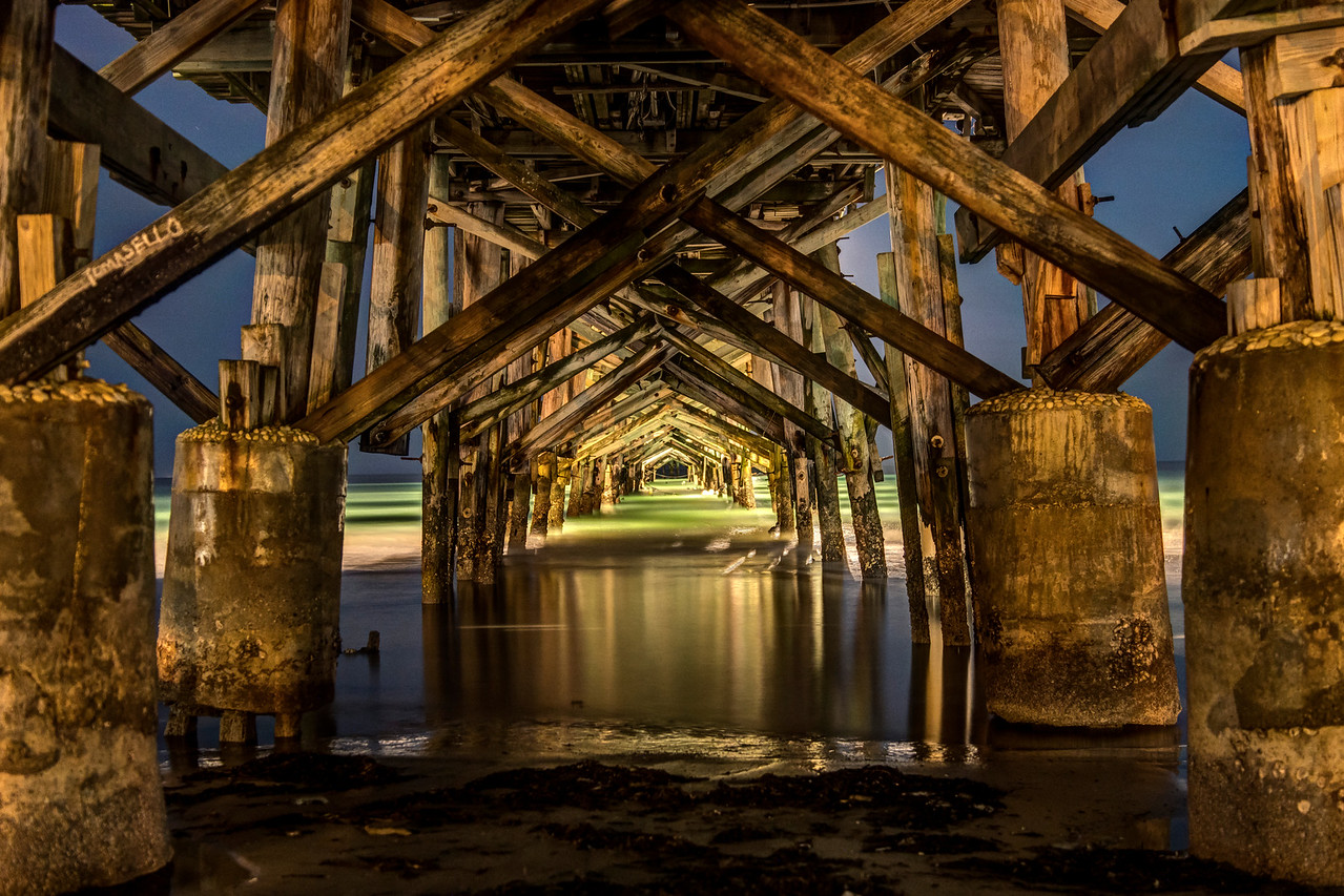 Redington Long Pier at Night