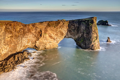 Dyrholaey Arch at Sunset