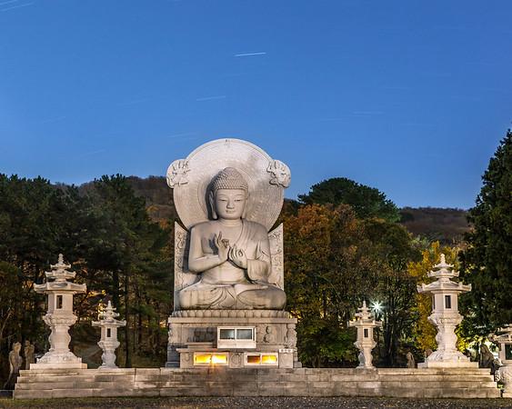 Star-trail Buddha