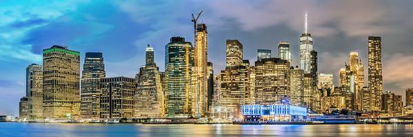 New York City Panorama at Dusk 2