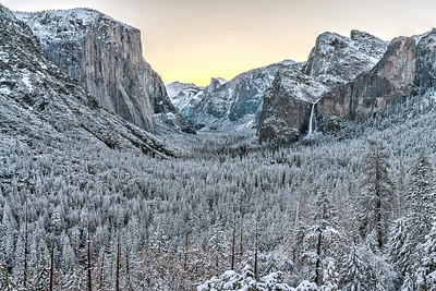Snowy Sunrise in Yosemite
