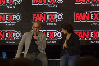 Robert Englund and Heather Langenkamp at 2014 Fan Expo Toronto