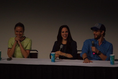 Anna Silk, Kris Holden-Ried and Rachel Skarsten at 2014 Fan Expo Toronto