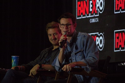 Arthur Darvill and Matt Smith at 2014 Fan Expo Toronto