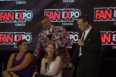 Bruce Campbell and Ted Raimi at 2014 Fan Expo Toronto