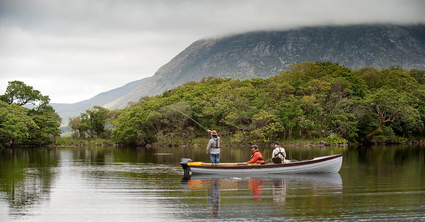 Some of Ireland's most stunning scenery.Fly fishing Lough Inagh, Connemara for sea trout and salmon