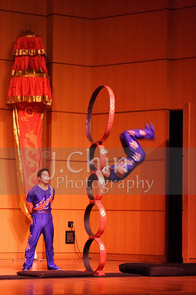 Chinese Acrobats perform at the College of Staten Island