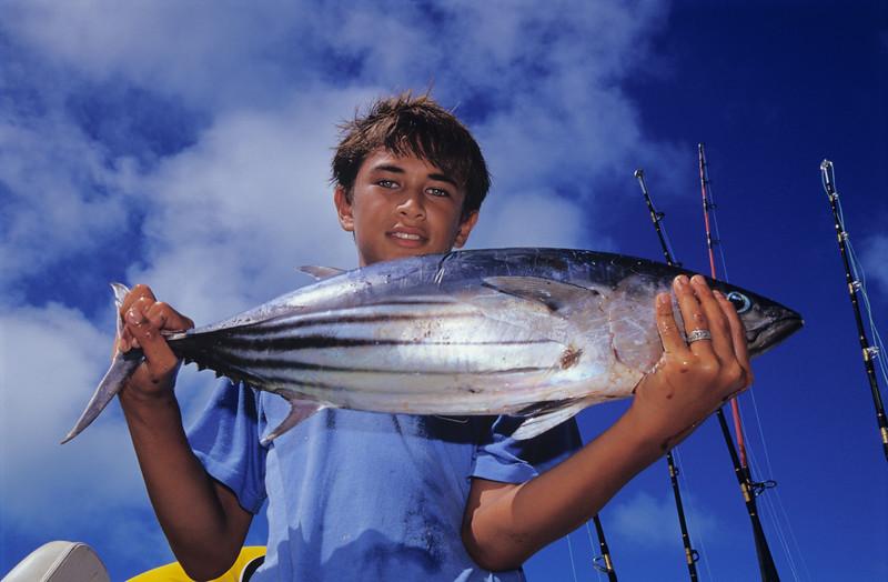 Boy with Albacore Tuna