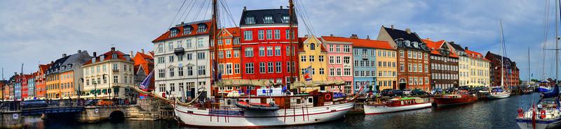 Nyhavn, Copenhagen-Panoramic 1