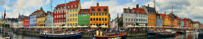 Nyhavn, Copenhagen-Panoramic 2