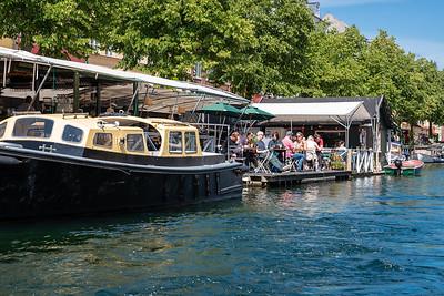 Canal side Cafe, Copenhagen, Denmark