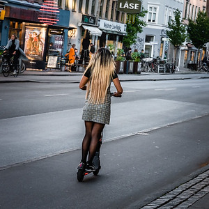 Girl on a scooter, Copenhagen