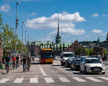 Bikes and buses, Copenhagen