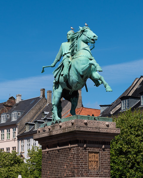 Copenhagen, Denmark.  Bishop Absalon with an axe.  See my travel blog about visiting Copenhagen.