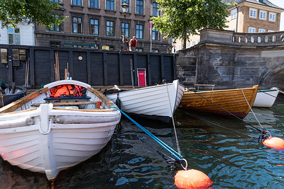 Canal boats, Copenhagen, Denmark