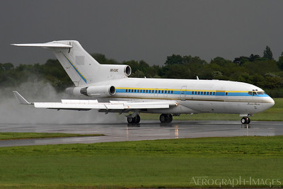 Reg:  9Q-CDCOperator:  Government of CongoType:  Boeing 727-30  C/n:  18934 / 222Location:  Manchester - Ringway (MAN / EGCC), UK 1966 vintage 727 rolling out on Manchester's runway 23R on a wretched day, arriving from Lasham for attention by a local paintshop prior to re-delivery. Originally built for Lufthansa, the aircraft has been in storage and long term maintenance in the UK for a number of years. Photo Date:  12 May 2014Photo ID:  1401001