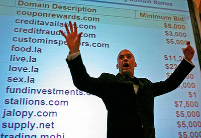 Domain name auction, DomainFest Global, 2008