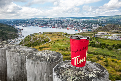Having a Tim's and enjoying the view