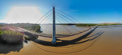 "Bridge over Tempisque River , Friendship Bridge (""Puente de La Amistad"""