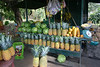 Pineapple, mangos, papaya, watermelon, bananas at a roadside fruit stand near Santa Marta (village) - south of San Isidro (city) - San Jose province