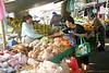 Turrialba Mercado - along the city street on Saturday morning - Cartago province