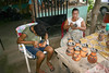 Etching symbols and patterns onto the pottery with a hand scriber - in the village of Guaitil - Nicoya Peninsula (north-central) - Guanacaste province