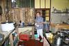 Rancho Comedor - back in the cocina (kitchen), with Maria preparing my desayuno (breakfast).