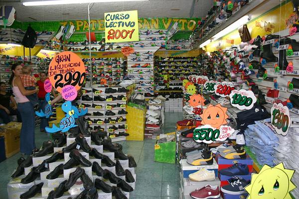 Zapateria (shoe store) - in the village of San Vito - Puntarenas province (south)
