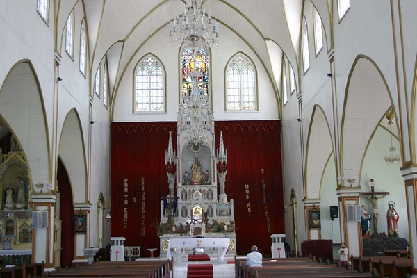 Altar at the Church of our Lady of Mercy - city of Grecia - Alajuela province (south-central)