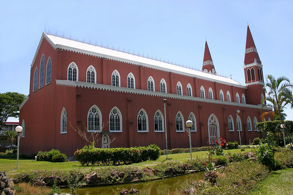Church of our Lady of Mercy - the only catholic church in Central America, whose entire frame construction is built of metal - city of Grecia - Alajuela province (south-central)