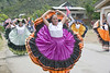 Tican dancers in their folk-dresses, at the festival in village of Orosi - Cartago province (western)