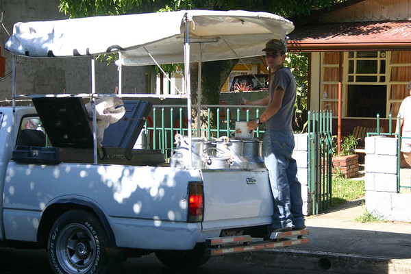 Home delivery of fresh leche and huevos (milk & eggs) - city of Sarchi - Alajuela province (south-central)