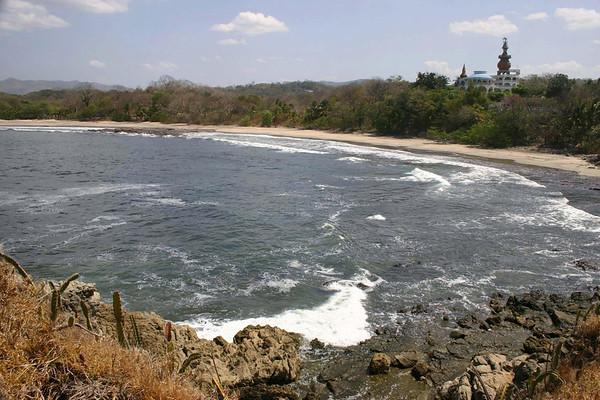 From Punta Roca (Rock Point) - across Playa Nosara - to the Nosara Beach Hotel - Nocoya Peninsula (western) - Guanacaste province