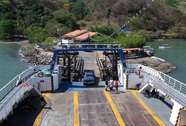 Puntarenas Ferry - docked at Paquera (village) - along the coastline in the Gulf of Nicoya - on the southeastern end of the Nicoya Peninsula - Puntarenas province (north)
