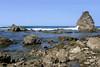 Punta Salsipuedes, the rocky metamorphic outcrops along the La Leona Trail coastline - Corcovado National Park - Osa Peninsula - Puntarenas province