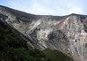 Volcan Turrialba - the fumaroles (vents) and sulfur pit crater emitting volcanit steam and sulfuric gasses - Turrialba Volcano National Park - Cartago province